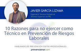 10 razones para no ejercer como técnico en prevención de riesgos laborales