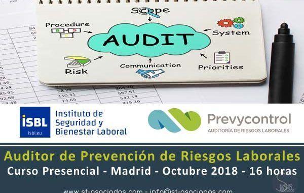 Curso: Auditor de Sistemas de Prevención de Riesgos Laborales #Madrid