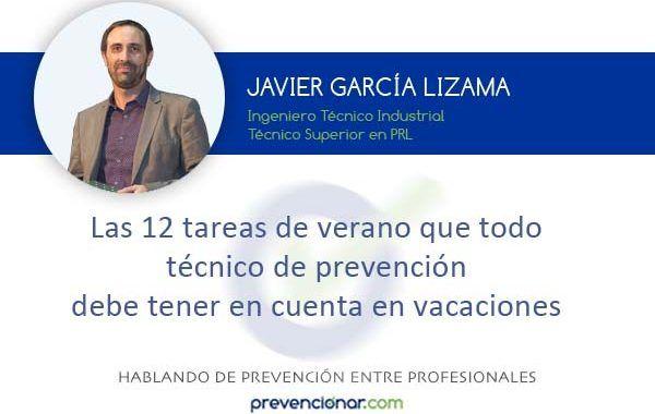 Las 12 tareas de verano que todo técnico de prevención debe tener en cuenta en vacaciones
