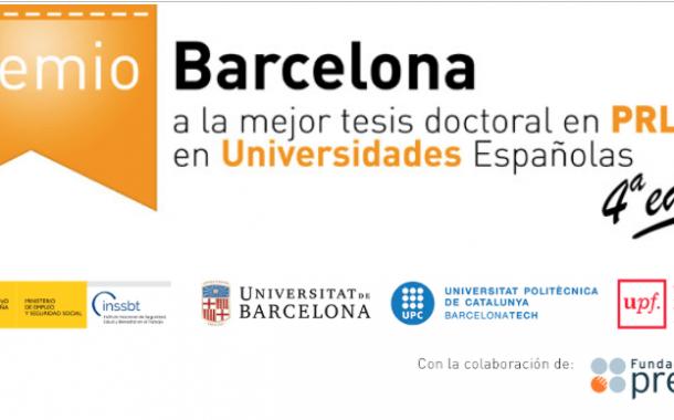 Premios Barcelona a la mejor tesis doctoral en PRL en Universidades Españolas