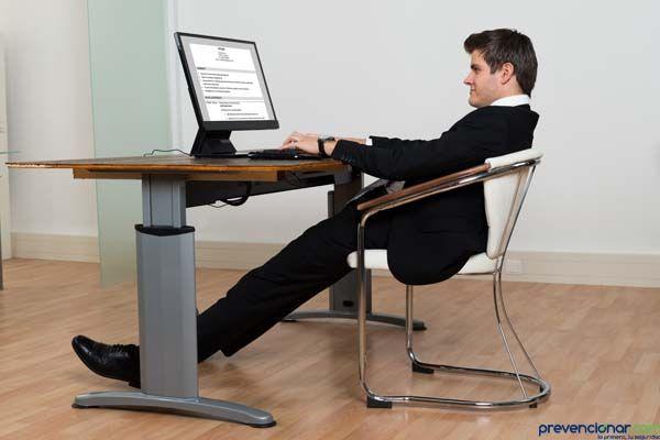 ¿Te gustaría saber cual es la buena postura en la oficina?