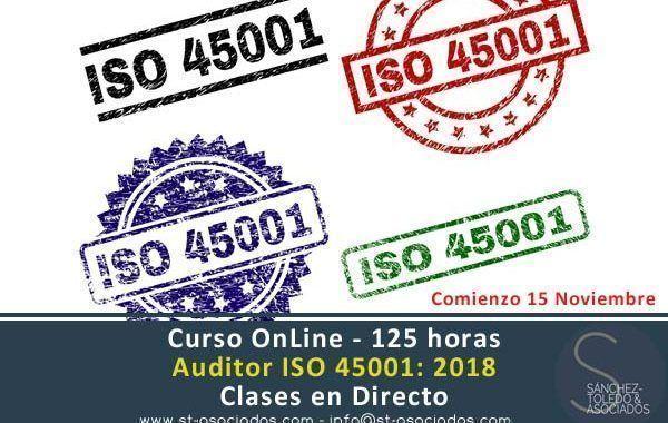 Curso OnLine: Auditor ISO 45001: 2018  ¡¡Clases en directo!!