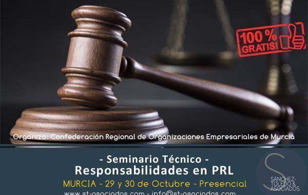 "ST&Asociados impartirá seminario ""Responsabilidades en PRL"" para CROEM"