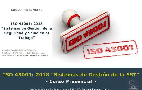Curso ISO 45001: 2018 - Febrero 2019 - Valencia y Baleares