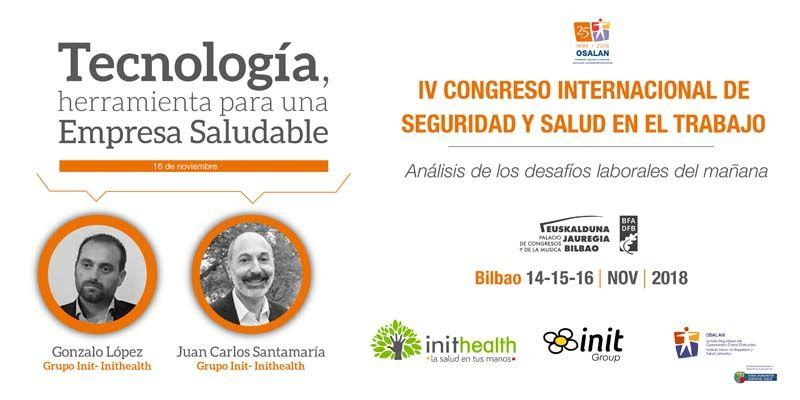 Inithealth participa en el IV Congreso Internacional de Seguridad y Salud en el Trabajo de Osalan