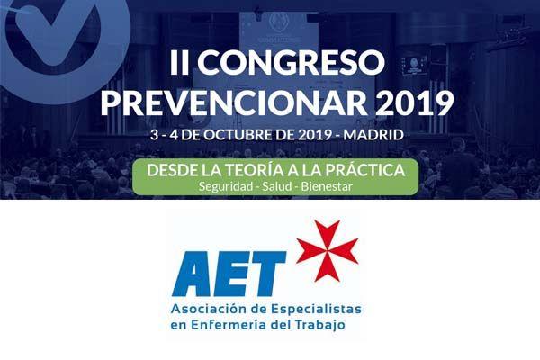 La Asociación de Especialistas en Enfermería del Trabajo se suma al II Congreso Prevencionar 2019