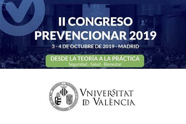La Universitat de València se suma al II Congreso Prevencionar 2019