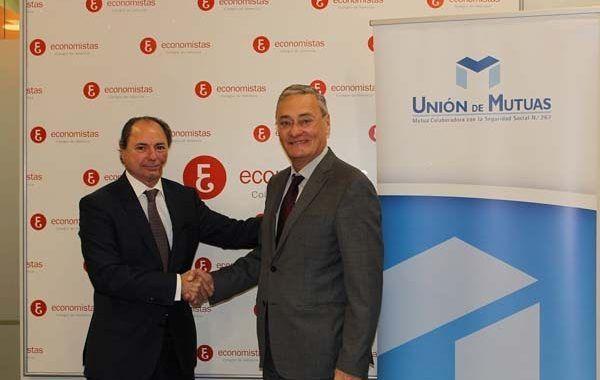 El Colegio de Economistas y Unión de Mutuas refuerzan su colaboración en el cuidado de la salud y la seguridad laboral