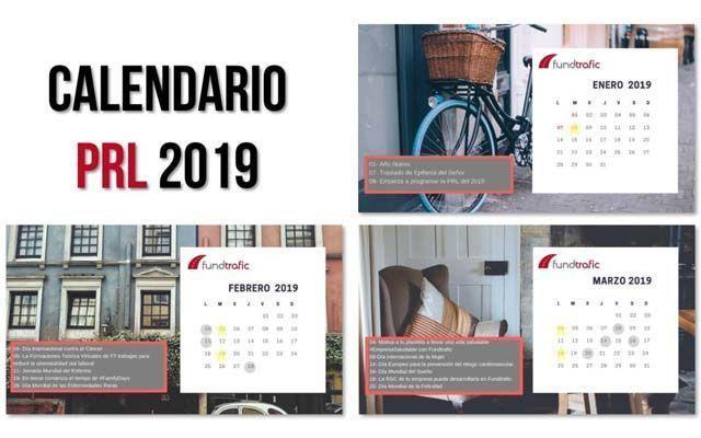 Consigue totalmente gratis el calendario de PRL 2019