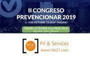 RISK XXI patrocinador del II Congreso Prevencionar 2019