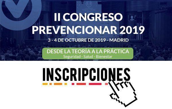 Inscripciones II Congreso Prevencionar 2019
