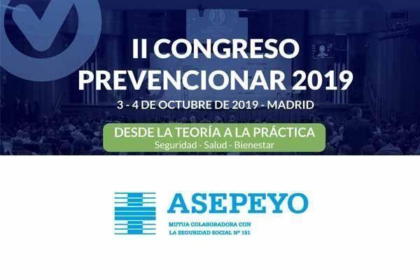 Asepeyo se suma al II Congreso Prevencionar 2019