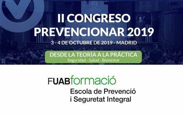 FUABformació se suma al II Congreso Prevencionar 2019