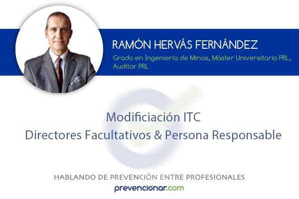 Modificación ITC: Directores Facultativos & Persona Responsable