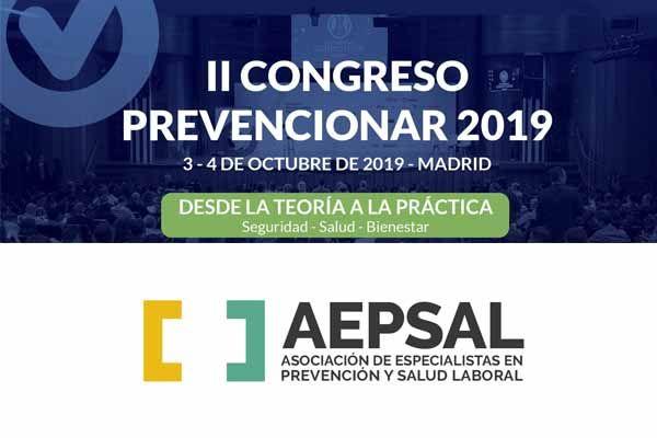 AEPSAL se suma al II Congreso Prevencionar 2019