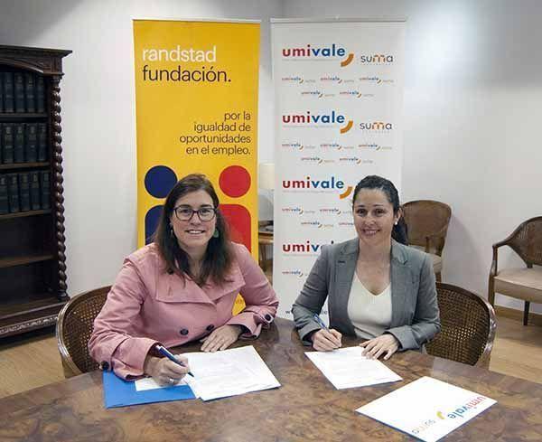 Randstad y umivale firman un convenio para favorecer la inclusión de trabajadores con discapacidad