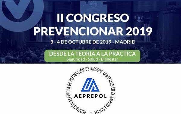 La Asociación Española de Prevención de Riesgos Laborales en el Ámbito Policial se suma al II Congreso Prevencionar 2019