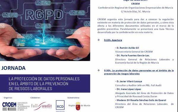 JORNADA: La protección de datos personales en el ámbito de la Prevención de Riesgos Laborales