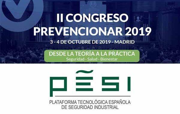 Pesi | Plataforma Tecnológica Española de Seguridad Industrial se suma al II Congreso Prevencionar
