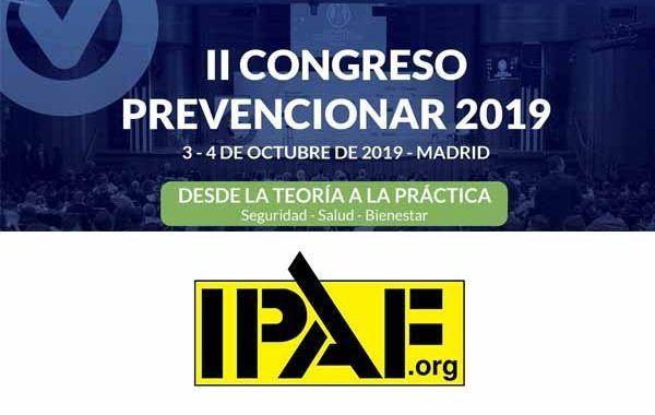 IPAF patrocinador del II Congreso Prevencionar 2019