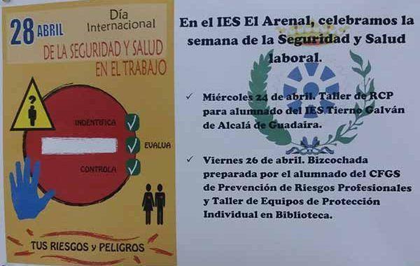 El IES El Arenal, celebra la semana de la Seguridad y Salud Laboral #28PRL