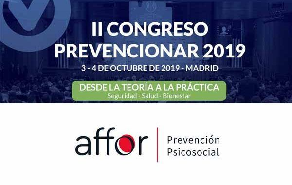 Affor Prevención Psicosocial patrocinador del II Congreso Prevencionar 2019
