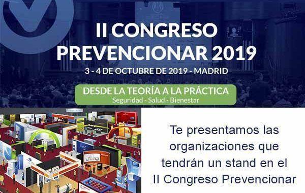 Te presentamos las organizaciones que tendrán un stand en el II Congreso Prevencionar