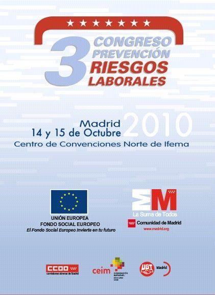 3er Congreso de Prevención de Riesgos Laborales de la Comunidad de Madrid