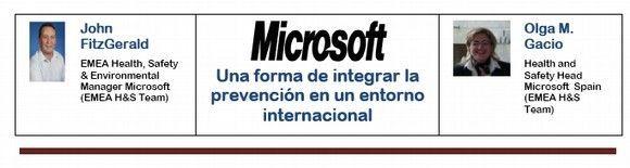 Microsoft: Una forma de integrar la prevención en un entorno internacional