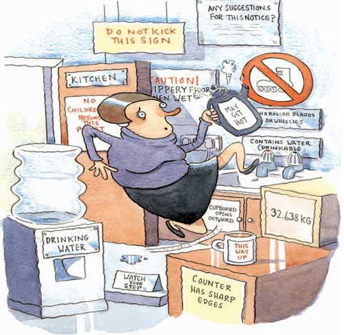 Mitos en prevención: Cada riesgo requiere una señal de seguridad