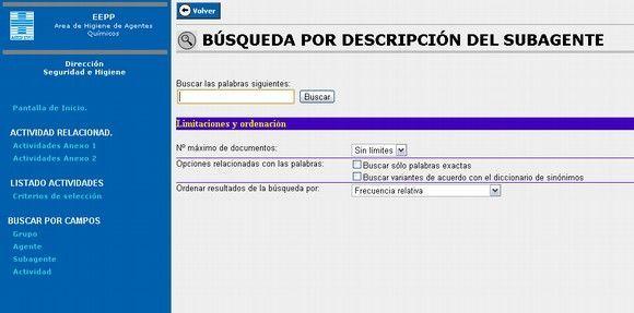 """Aplicación informática on-line """"Cuadro Enfermedades Profesionales"""" de Asepeyo"""