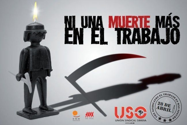 """USO conmemora el 28 de abril bajo el lema """"Ni una muerte mas en el trabajo"""""""