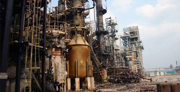 Investigación de accidente: Explosión en una fábrica de pesticidas