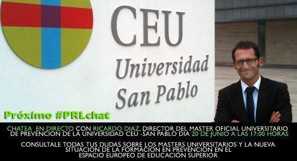 #PRLchat con Ricardo Díaz: La Formación Universitaria en Prevención a debate