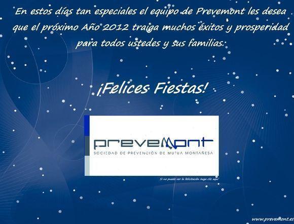 PrevenMont Sociedad de Prevención les desea Felices Fiestas