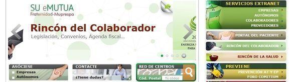 La web de Fraternidad-Muprespa mejor portal entre las mutuas de accidentes de trabajo