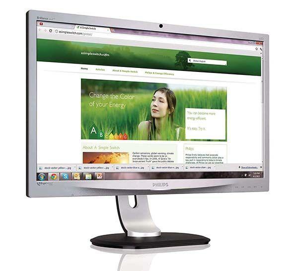 Una pantalla de ordenador que ayuda a corregir la postura
