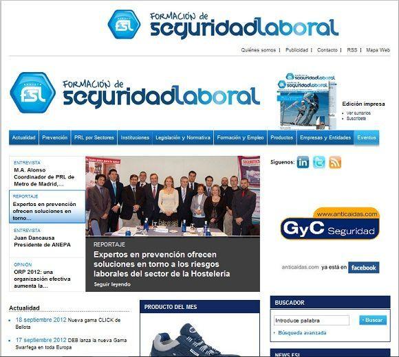 """La revista """"Formación de Seguridad Laboral"""" pone en marcha su nueva web"""