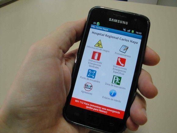 Aplicación para smartphone sobre riesgos laborales y actuaciones en situaciones de emergencia