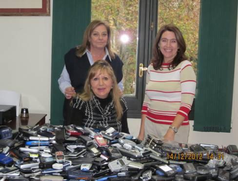 """Éxito en la """"Campaña Teléfonos Móviles"""" recogida por Fraternidad Muprespa en apoyo a la AEPM."""