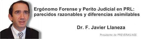 Ergónomo Forense y Perito Judicial en PRL: parecidos razonables y diferencias abismales