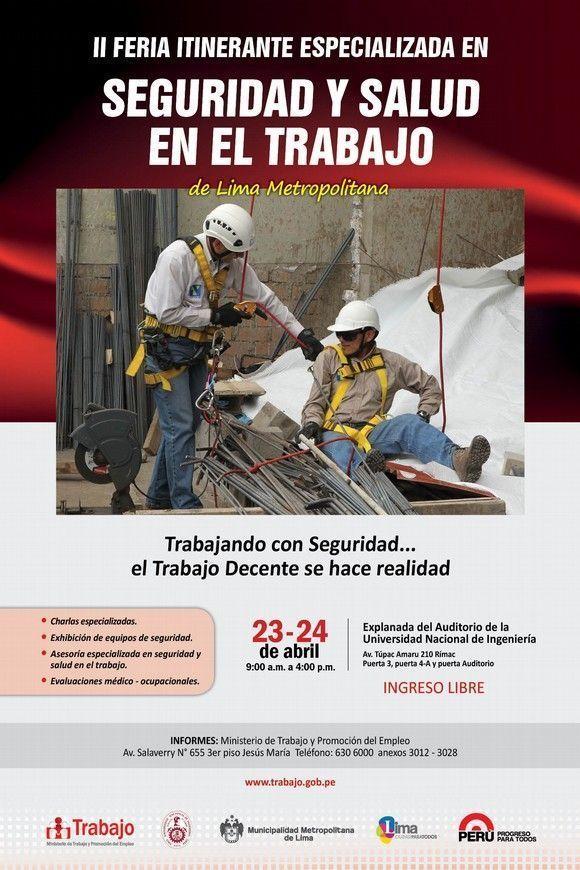 II Feria en Seguridad y Salud en el Trabajo y Conferencias de #Perú #28PRL
