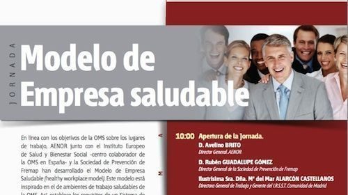 Próxima jornada Empresa Saludable AENOR Madrid
