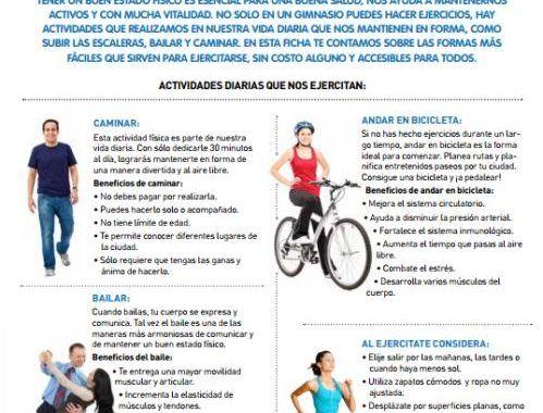 Infografía: Incorpora la actividad física a tu vida