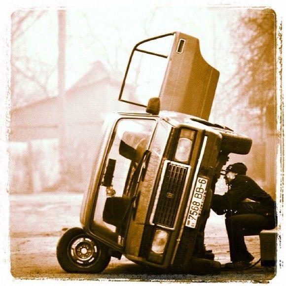Tremendo ejemplo de seguridad al estilo Bieloruso, la foto es del 2012