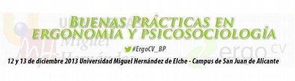 """5ª Jornada ErgoCV """"Buenas Prácticas en Ergonomía y Psicosociología"""""""