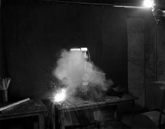 1946 Recogida de muestras ambientales en trabajos de soldadura