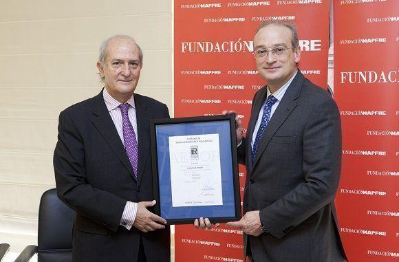 FUNDACIÓN MAPFRE recibe la certificación AENOR para mejorar la seguridad vial de sus empleados