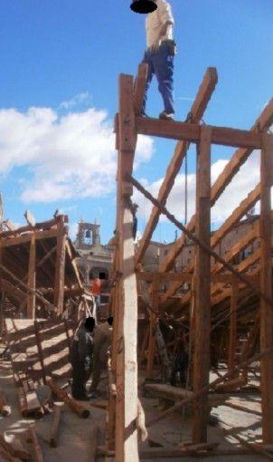 Riesgo caída altura - Construcción plaza de toros - Carnaval Ciudad Rodrigo