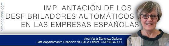 Implantación de los desfibriladores automáticos en las empresas españolas